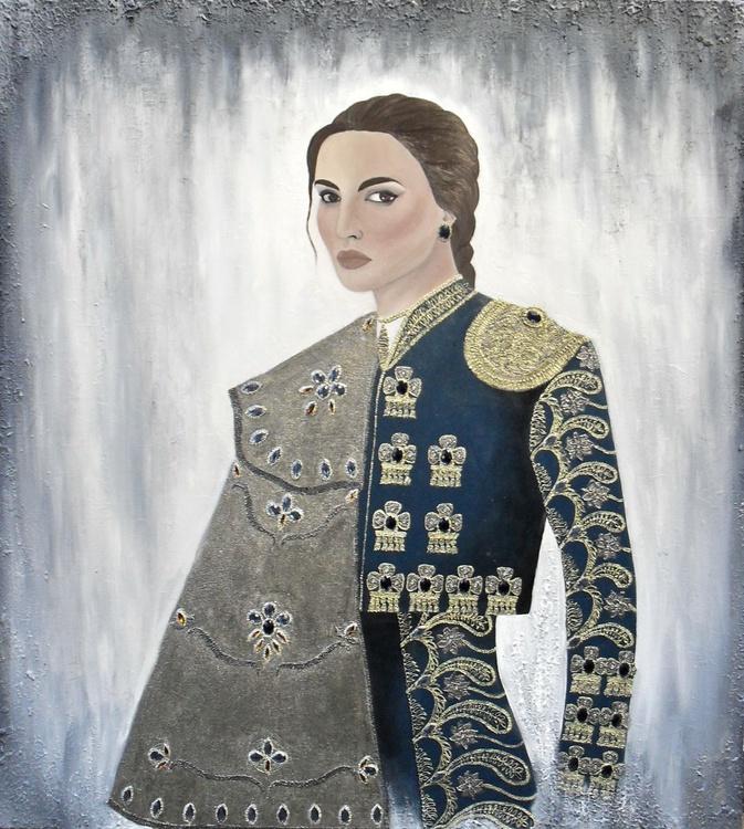 Portrait in oil - Image 0
