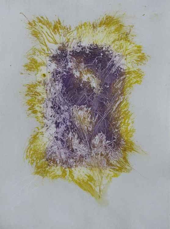 Amethyste Radiance, acrylic on paper, 21x29 cm -