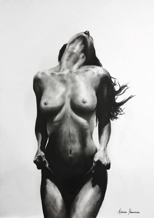 Nude Woman Charcoal Study 35 - Image 0