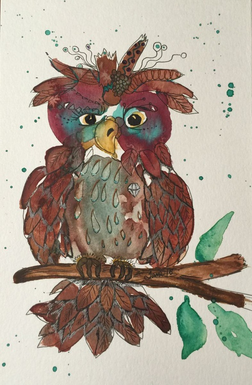 Anna Quizzical owl - Image 0
