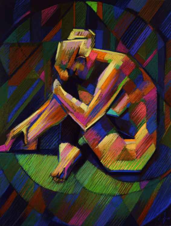Cubistic nude 07 (sold) -