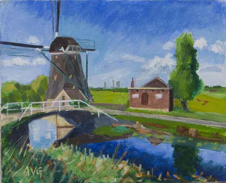 Mill at Schipluiden Holland -