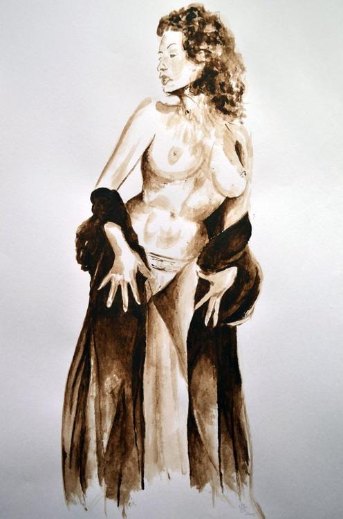 Girl in sepia 2 - Image 0