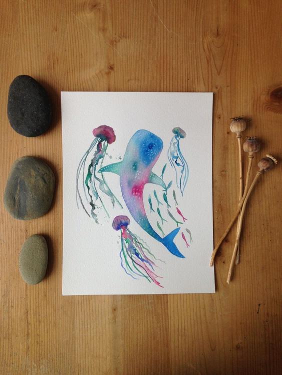 Whale Shark Watercolour - Image 0