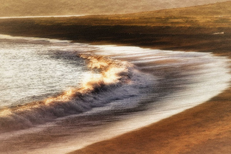 Breaking Wave at Sunset - Image 0