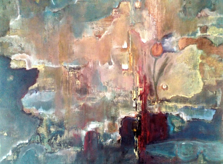 PHANTOM WORLD - Original Modern Abstract Painting On Stretched Canvas - Image 0