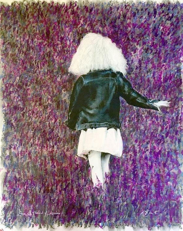 Eva Walking in Lupines - Image 0