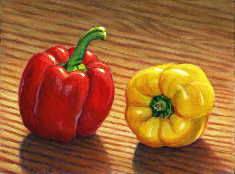 Red and Yellow Peppers - Image 0