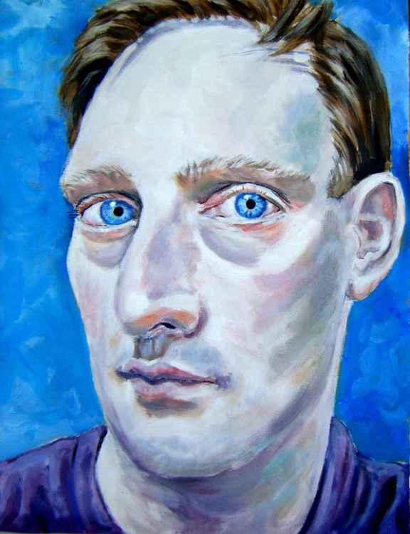 Portrait in blue -
