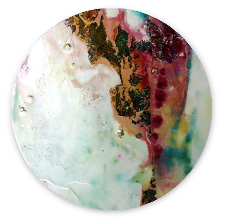 Abstract Painting - Mixed Media - Circle Abstraction Series . No. 28 - Image 0