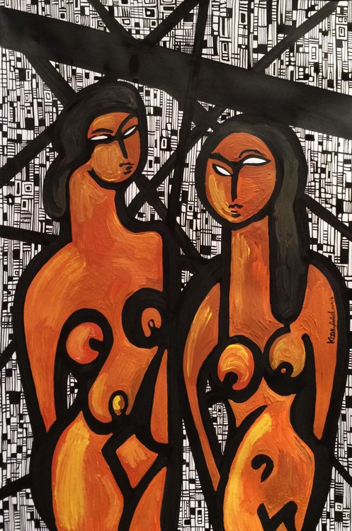Two Female Figures - Image 0