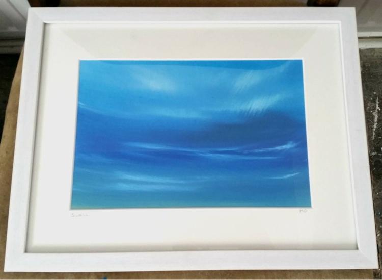 Swell - Seascape, Blue, Framed - Image 0