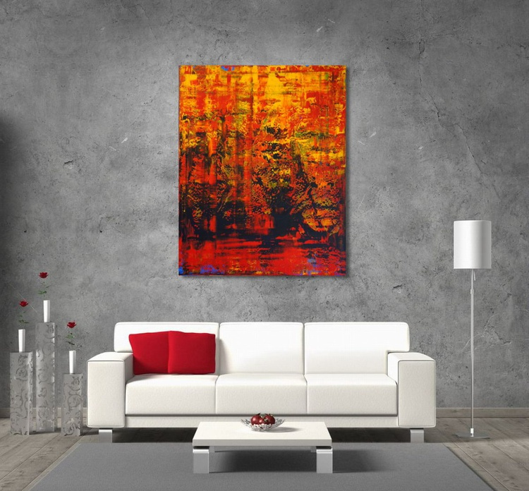 Water In Flames (80 x 100 cm) - Image 0