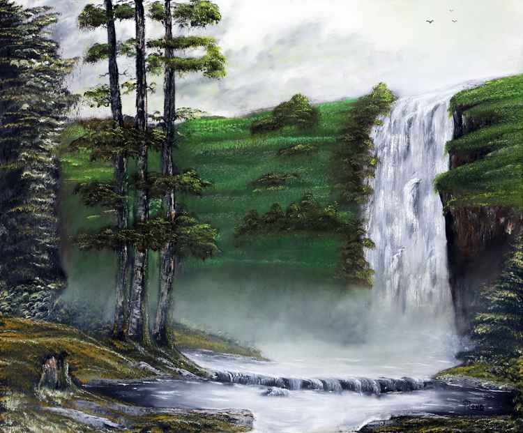 Misty Waterfall -