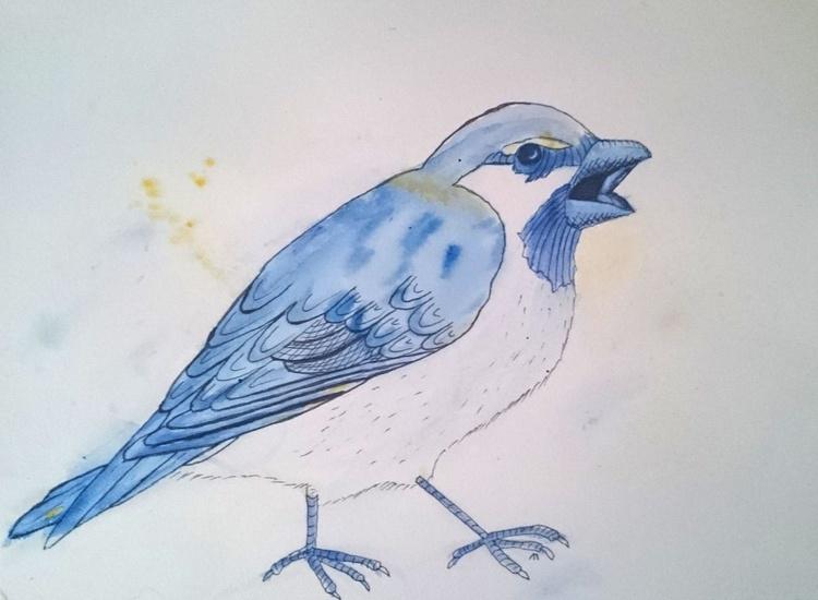 Blue Sparrow with Attitude - Image 0