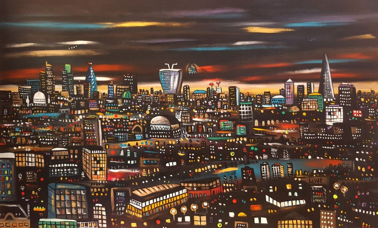 Futuristic London at night in a parallel dimension. - Image 0