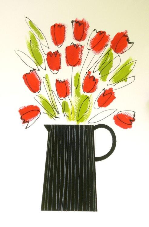 Twelve Red Tulips - Image 0