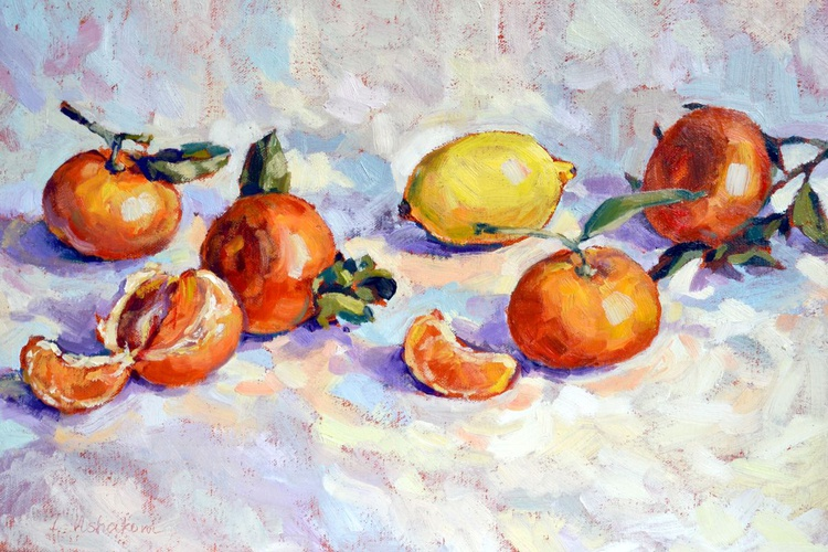 Tangerines and lemon. - Image 0