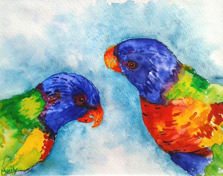 """""""Rainbow lorikeets"""" - Image 0"""