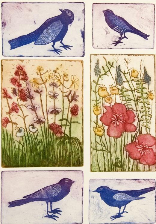 Spring, aquatint etching - Image 0