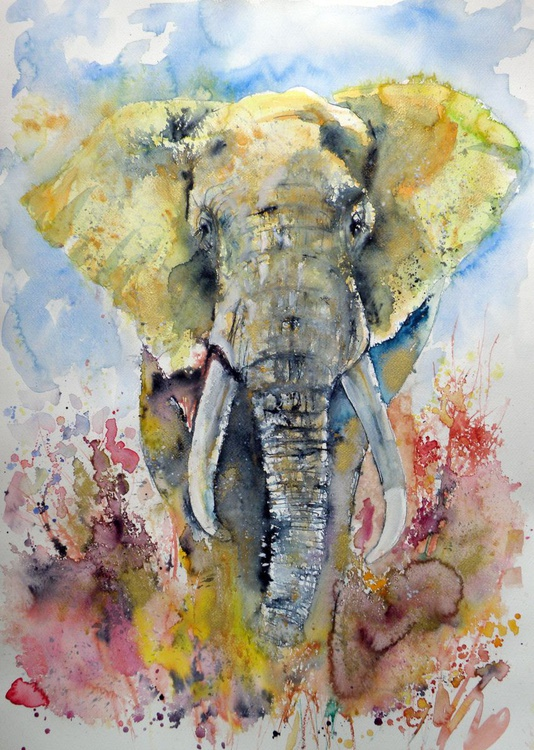 Big elephant in gold - Image 0