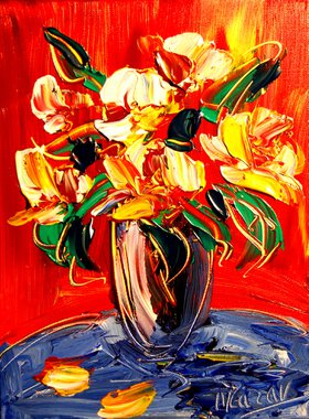 Modern Abstract  POP ART  LISTED BY MARK KAZAV LARGE CANVAS Original Oil by Mark  Kazav