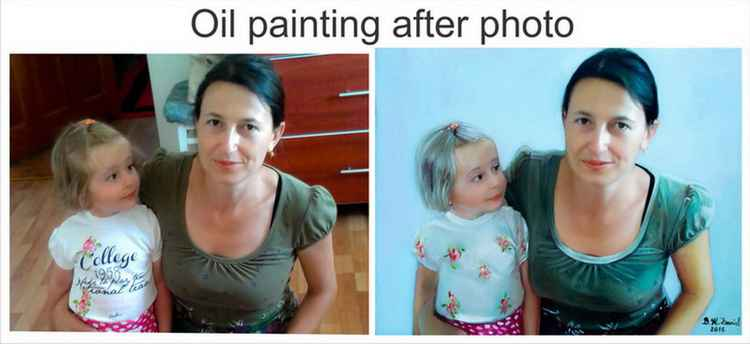Oil portrait after photo