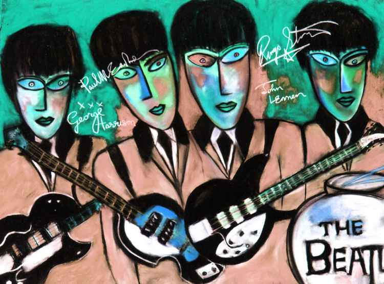 The Beatles with Guitars & Autographs -