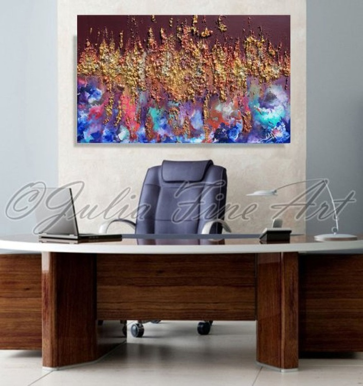 Original Art, Contemporary Abstract, Mixed Media, 3D Sculpture Painting, Modern Office Decor, Relief, Unique Texture Artwork, ''Time Travelling'' - Image 0