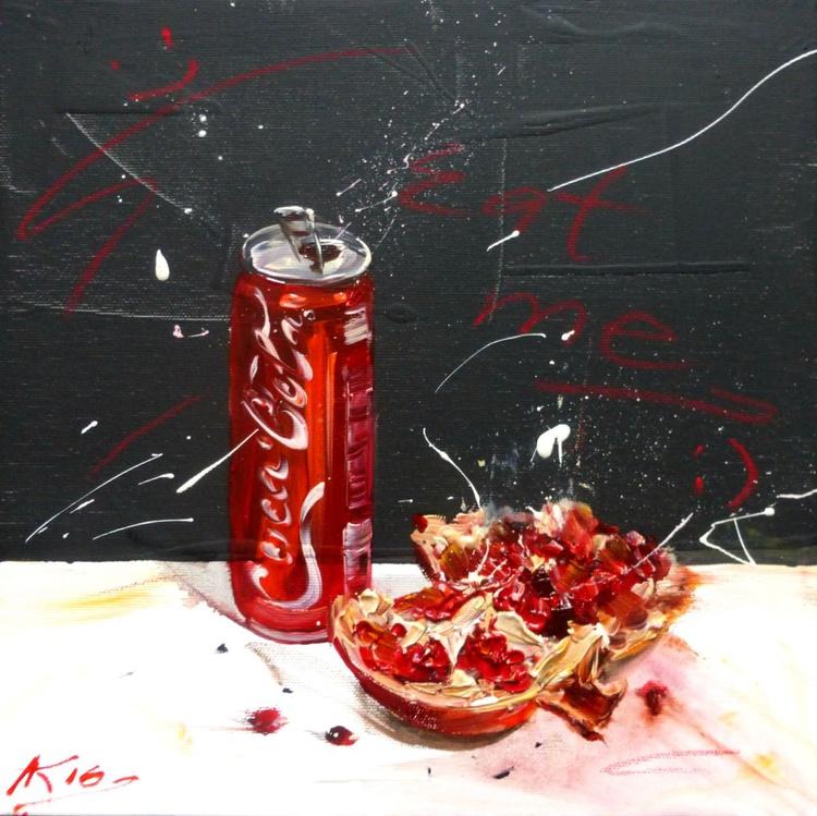 Eat me..., oil painting 30x30 cm - Image 0