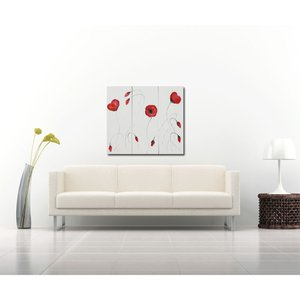 Remembrance Poppy Triptych by Rachel McCullock