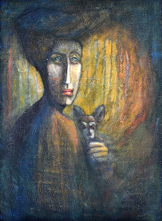 The Lady with the Dog  (64x90x1.6cm) - Image 0