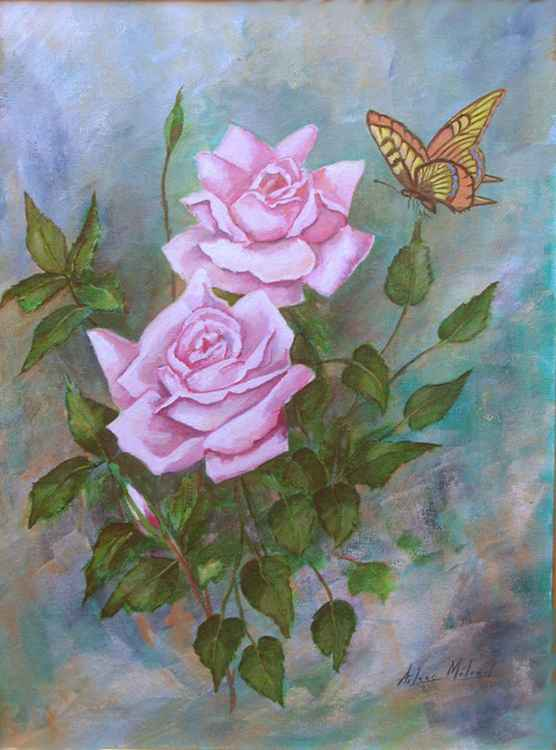 Roses and Butterfly -