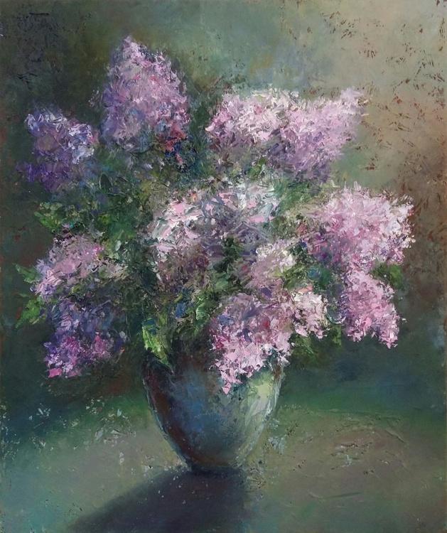 Lilac spring, 50x60 cm, original artwork, FREE SHIPPING - Image 0