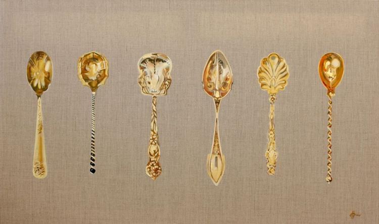 Six Golden Teaspoons - Image 0