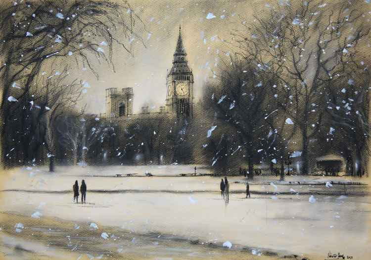 First snowfall of 2013 (St James Park)