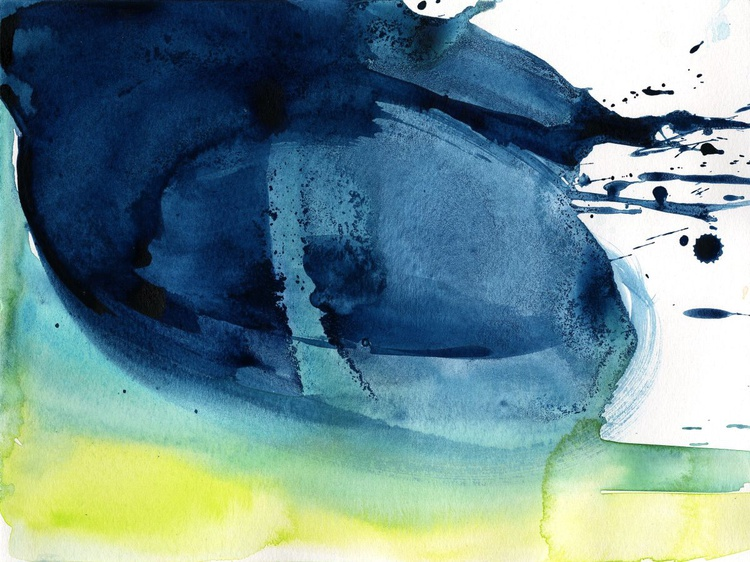 Serenity 8 - Abstract Watercolor Painting by Kathy Morton Stanion - Image 0