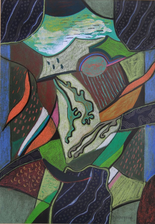 Composition in green - Image 0
