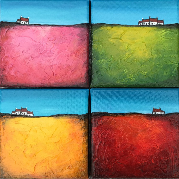 Set of 4 Little houses - Image 0