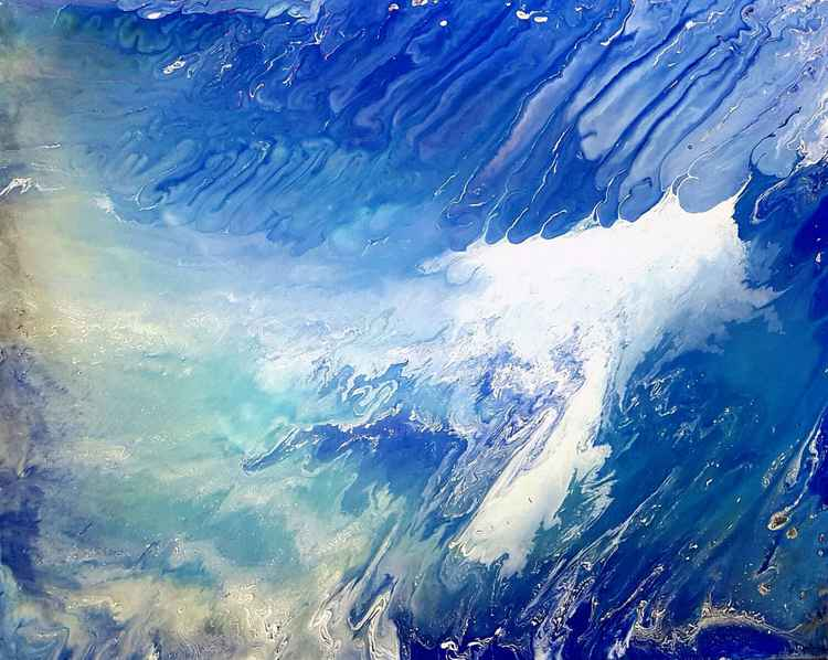 Tidal Wave - Abstract seascape painting -