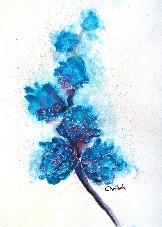 Cyan Blooms 1 - Image 0