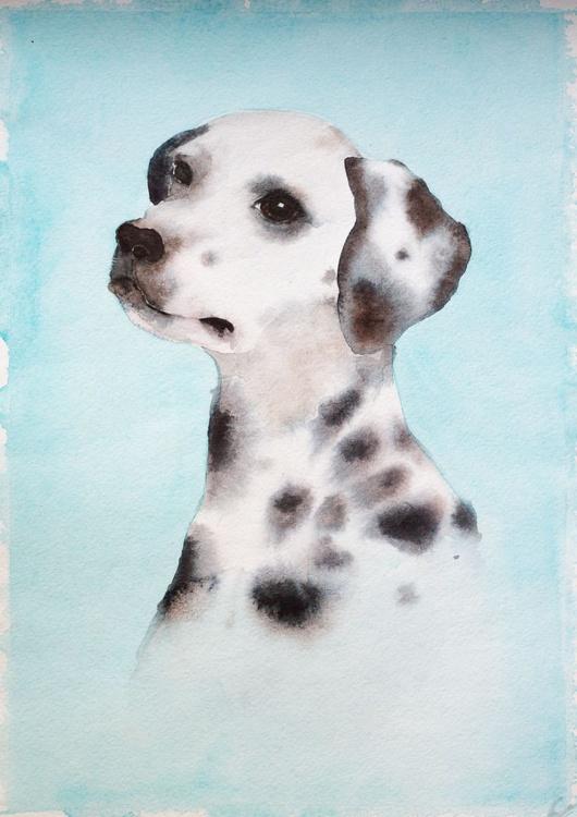 A portrait of a dalmatian - Image 0