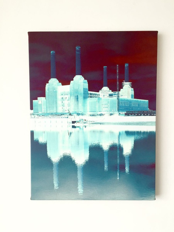 """BATTERSEA POWER STATION  NO:8  Canvas Limited edition  1/20 12""""x 16"""" - Image 0"""
