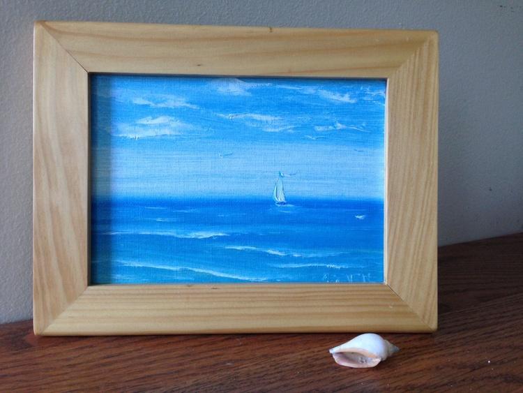 """Morning Breeze VI 5x7"""" framed - Image 0"""