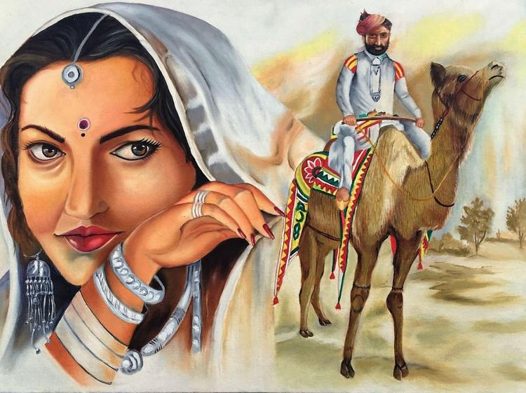 Rajasthan-India on Canvas - Image 0