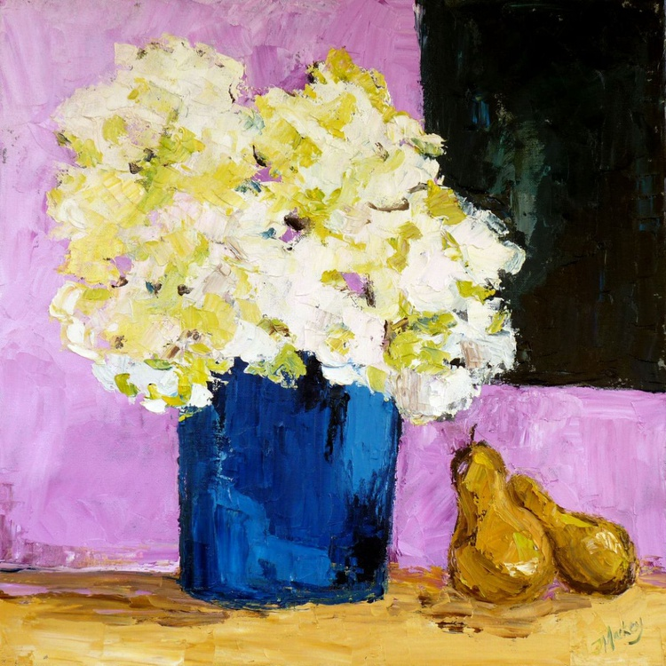 Blue Vase with Pears - Image 0