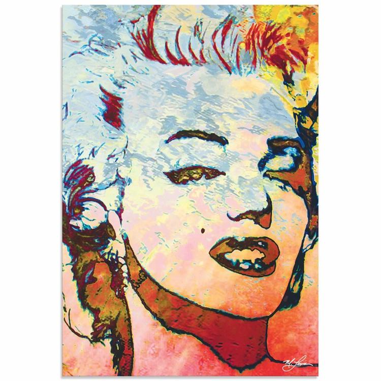 Mark Lewis 'Marilyn Monroe Red' Limited Edition Pop Art Print on Metal - Image 0