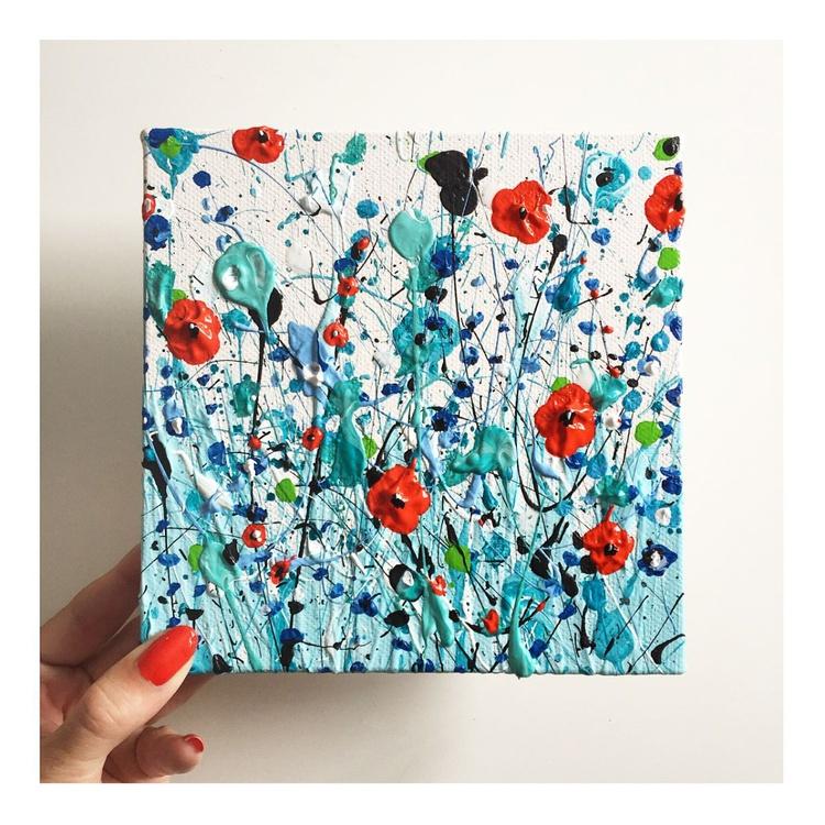 Aqua Poppies - Image 0