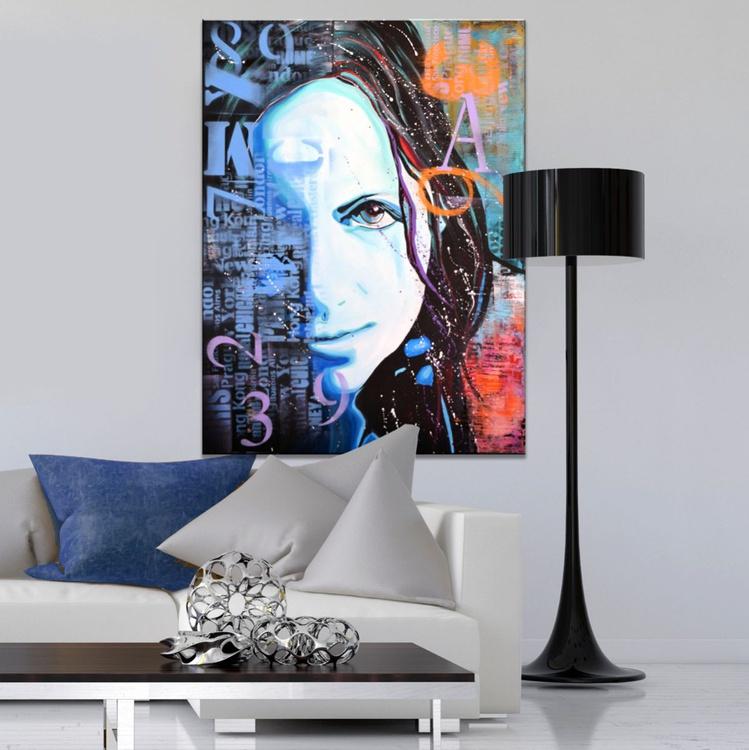 AWAKENING SOUL - original blue purple modern abstract urban pop art - Image 0