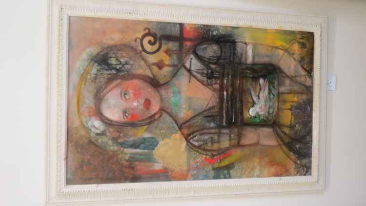 Original Oil painting by Monique Bavaud .. title Kelly
